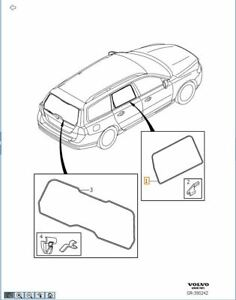 Rear Door Sunshade Kit Genuine Volvo XC70 V70 30756720 Set of 2 Doors