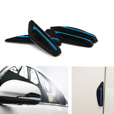4 Pcs Blue Silicone Car Rearview Mirror Side Bumper Anti-Rub Door Edge Strips
