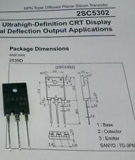 2 Stück 2SC5302 Transistor NPN Uceo=800V Ic=15A 75W TO-3PML (M1520)