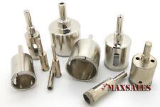 10pc DIAMOND HOLE SAW Set Drill Tile Glass Marble Granite Slate Cutting Set