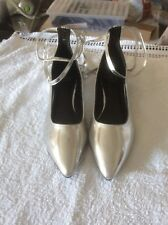 Ladies - Silver Flats with optional Leg Ties - New - Size 6