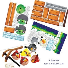 Wall Stickers Set Angry Birds Children & Gaming Room Fun Cell Game Decor Decals