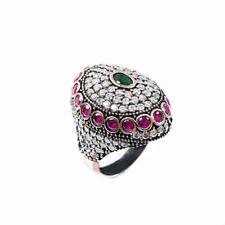 Handgefertigte Ringe mit Rubin echten Edelsteinen für Damen