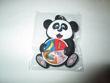 New Key Ring Chain Keyring PANDA BEAR with Plate of Food Groups
