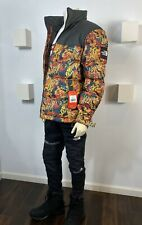The North Face Mens Nuptse Jacket 1992 Leopard Yellow Genesis Print Authentic XL