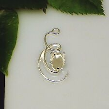 8x6 Oval Curl Design Sterling Silver Snap Tite Dangle Drop Setting (LEFT)