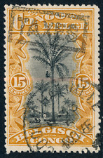1910 Belgian Congo Stamp, #47, Postage Due Taxes overprint, used
