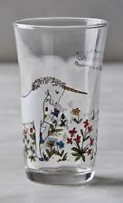 NEW ANTHROPOLOGIE MENAGERIE JUICE GLASS ARTIST MOLLY HATCH-ONE OF A KIND-UNICORN