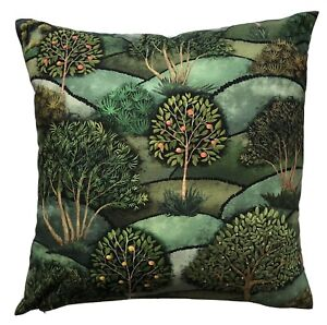 "Green Cushion Cover Hills Greenery Botanical Fruits Lands Apples Tree 16"" - 24"""