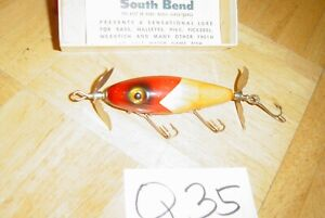 SOUTH BEND VINTAGE LURE - RED & YELLOW?- NIP I DIDDEE 5/8OZ- ANTIQUE OLD BAIT