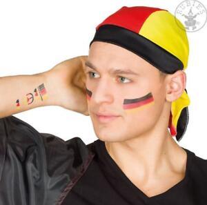 Deutschland Bandana WM Hut Mütze Kappe Weltmeisterschaft schwarz rot gold