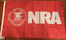 Nra 3' x 5' Feet Polyester Banner Flag National Rifle Association Usa Shipper