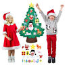 115cm Kids DIY Felt Christmas Tree with Ornaments Xmas Gift Wall Hanging Decor Z