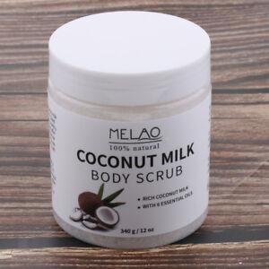 Pure Natural Coconut Milk Essential Oils Dead Sea Salt Body Scrub Exfoliator