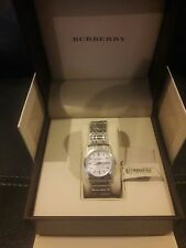 Burberry Swiss Watch Women Stainless Steel Round Dial Brand New never worn Tags!