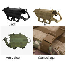 TACTICAL MILITARY HEAVY DUTY DOG VEST MOLLE HUNTING TRAINING HARNESS
