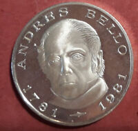 Venezuela 100 Bolivares  1981 Plata Andres Bello @ PROOF @