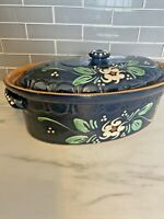 Alsace French Pottery Dutch Oven With Lid Casserole Dish Vintage French Dish