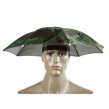 Camouflage Pattern Hat Cap Elastic Headband Sun Rain Umbrella Nylon Umbrella