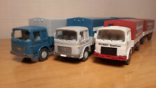 HO WIKING LOT 3 CAMIONS REMORQUES BACHEES MAN