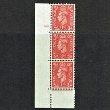 GB KING GEORGE VI 1937, 1d SCARLET, CYLINDER No.166(NO Dot), SG463, MNH/Mint