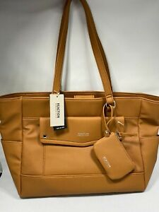 Kenneth Cole Reaction Tote purse CognacTan Located in USA MSRP $99 Woman Limited
