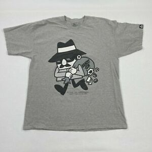 """Bandit-1$M  """"My Money"""" The Robber Heather Gray HEAVY T Shirt For Men VERY NICE!"""