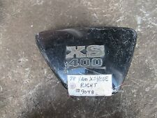 1978 yamaha xs400 right side cover panel with emblem