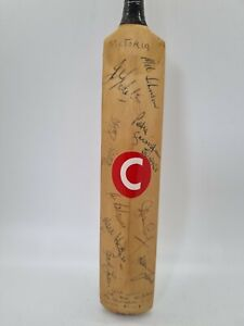 Signed Cricket Mini Bat 1982 Victoria Queensland Australia Thomson Border Hughes