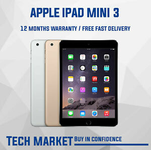 Apple iPad Mini 3 - 16GB/32GB/64GB - Wi-Fi - Various Color & Grade - iOS 12.5.1