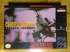 Choplifter 3 III Super Nintendo SNES Very Rare BRAND NEW Factory Sealed