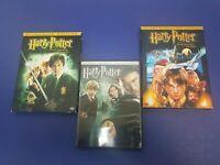 Harry Potter 3 DVD LOT- Sorcerer's Stone,Chamber of Secrets,Order of the Phoenix