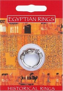 Egyptian Scarab Ring - Pewter