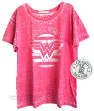 Junk Food Wonder Woman Burnout Soft Tri-Blend Fabric Boyfriend T-shirt Loose Fit