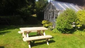 Heavy Duty Garden Picnic Table / Pub Bench 1.2M/4ft *NO Self Assembly required*