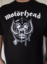 Motorhead Black T-Shirt Heavy Metal Rock Skull