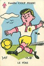 SPORT FOOTBALL HUMOUR HUMOR PERE 50s PLAYING CARD CARTE A JOUER