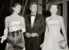 President JOHN F KENNEDY with JACKIE & EUNICE SHRIVER Photo