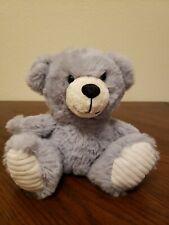 Dan Dee gray plush teddy bear cream white black nose stuffed animal soft toy