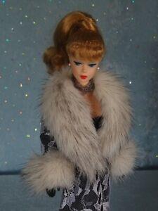 "AllforDoll Mink fur COAT for 11.5 -12"" Fashion Royalty Silkstone Vintage Barbie"
