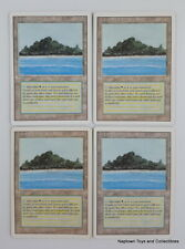 Mtg Tropical Island x4 Revised 3rd Edition Dual Lands Magic the Gathering VG/NM