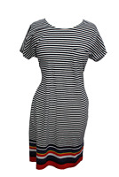 Barbour Harewood Dress Navy/Orange - Women's Sizes UK 8 & 10 - RRP £50