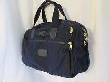 ANDIAMO Blue tan Travel Carry on bag Large Excellent 6 Compartments~soft  Lot#21