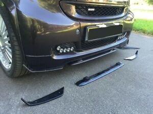 3 front spoiler bumper protector FULL KIT (fits Smart Fortwo 451 all and brabus)