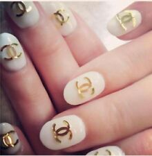 Adesivi tattoo unghie gatto stickers nail art water uv gel ricostruzione chanel