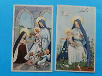 LOT 2 IMAGES PIEUSES MARIE SAINTE THERESE  JESUS SIGNEES KLS THFR  !