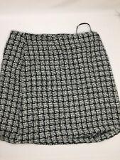 Alympaige Women Skirt  Above Knee Regualr Fit Black White Knit Size 11/12