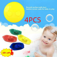 4PCS Colorful healthy baby bath toy boat plastic boat toy AU