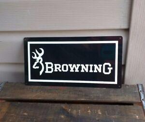 BROWNING FIRE ARMS Metal Sign Gun Shop Hunting Advertising 6x12 50093