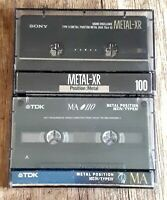 Audio cassettes *RARE!!* METAL TYPE IV Used recordable (ex-Blank) TDK FUJI SONY